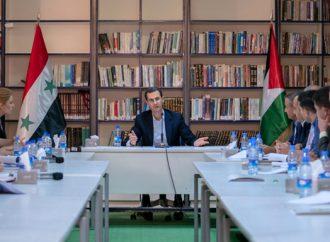 خلال مشاركته للرفاق البعثيين في جلسة حوارية الرئيس الأسد: توسيع الحوار أفقياً.. والانتقال به من التفاعل إلى الإنتاج القومية العربية ليست مصطلحاً أو إيديولوجية وإنما هي انتماء