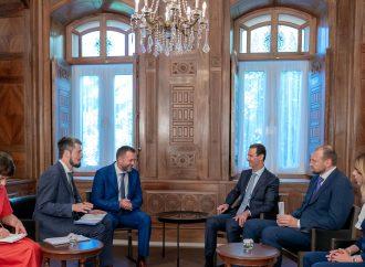 الرئيس الأسد لوفد حزب روسيا الموحّدة:  ضرب الإرهابيين حتى تحرير آخر شبر من الأراضي السورية