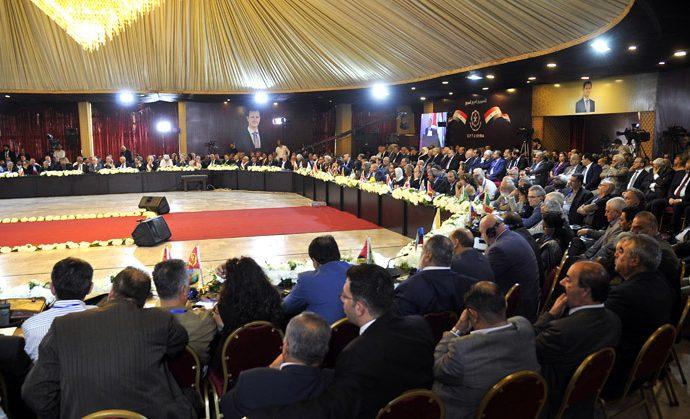 برعاية الرئيس الأسد.. وبمشاركة 100 منظمة عربية ودولية انطلاق فعاليات الملتقى النقابي الدولي الثالث للتضامن مع سورية