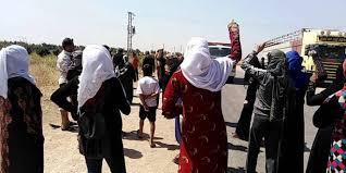 """تظاهرات في ريف الحسكة احتجاجاً على ممارســــات ميليشيــــا """"قســد"""""""