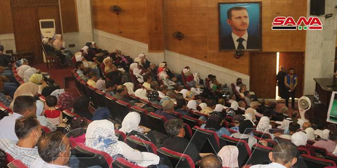 احتفاليتان في دير الزور والقنيطرة بذكرى تحريرهما من الإرهاب