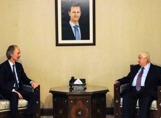 """المعلم لـ """"بيدرسون"""": سلوك نظام أردوغان العدواني يهدّد عمل لجنة مناقشة الدستــور"""