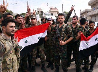 جيشنا يرفع العلم الوطني في عين العرب.. والنظام التركي يقصف رأس العين في خرق فوري للاتفاق مع ترامب