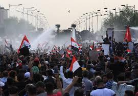 تظاهرات في بغداد رفضاً للتدخلات الإسرائيلية والأمريكية