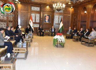 عزوز يلتقي وفد اللجنة الاقتصادية المشتركة السورية الكورية الديموقراطية