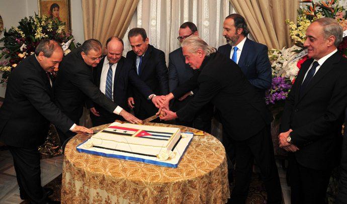 حفل استقبال بمناسبة الذكرى الحادية والستين لانتصار الثورة الكوبية