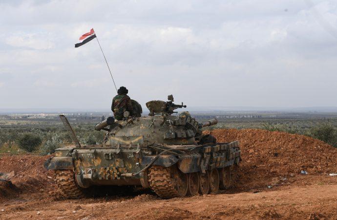 دفاعاتنا الجوية تتصدى لصواريخ قادمة من فوق الجولان السوري المحتل وتسقط عدداً منها  قواتنــــا الباســـــلة توســّــع نطــــاق سيطرتهــــا غربــــي طريق حلــــب- دمشــــق