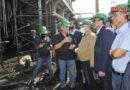 المهندس عرنوس يتفقد أعمال الصيانة والعمرة الجارية في مصفاة بانياس